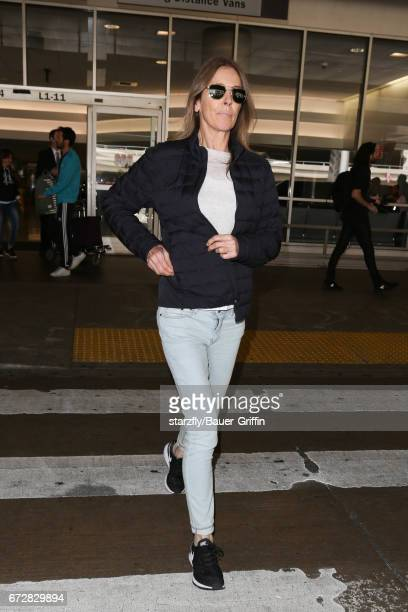 Kathryn Bigelow is seen at LAX on April 24 2017 in Los Angeles California