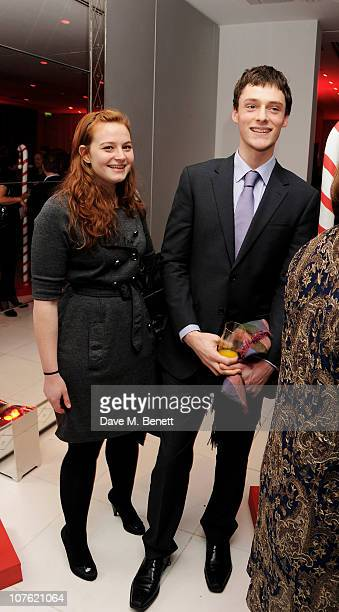 Kathryn Blair and guest attend the preparty for the English National Ballet's 'The Nutcracker' at St Martins Lane Hotel on December 15 2010 in London...