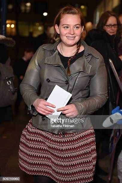 Kathryn Blair attends the Press night for Cirque Berserk at The Peacock Theatre on February 9 2016 in London England