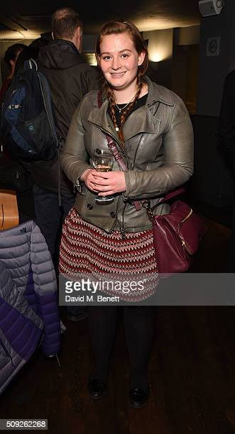 Kathryn Blair attends the Press Night performance of Cirque Berserk at The Peacock Theatre on February 9 2016 in London England