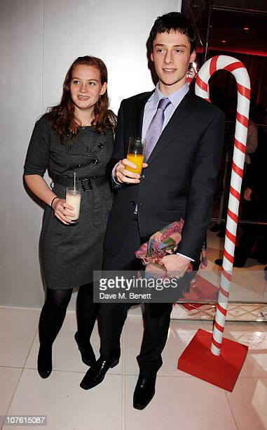 Kathryn Blair daughter of former Prime Minister Tony Blair and guest attend the preparty for the English National Ballet's 'The Nutcracker' at St...