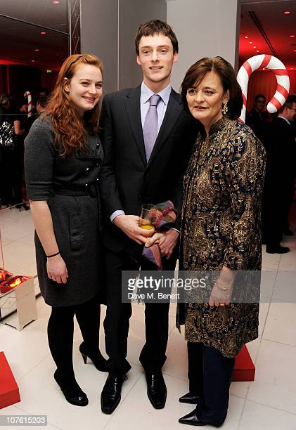 Kathryn Blair guest and Cherie Blair attend the preparty for the English National Ballet's 'The Nutcracker' at St Martins Lane Hotel on December 15...