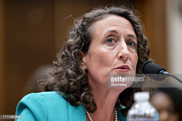Kathryn Boockvar acting secretary of the commonwealth with the Pennsylvania Department of State speaks during a House Judiciary Committee hearing on...