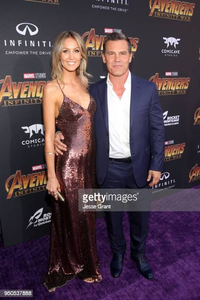 Kathryn Boyd and actor Josh Brolin attend the Los Angeles Global Premiere for Marvel Studios' Avengers Infinity War on April 23 2018 in Hollywood...