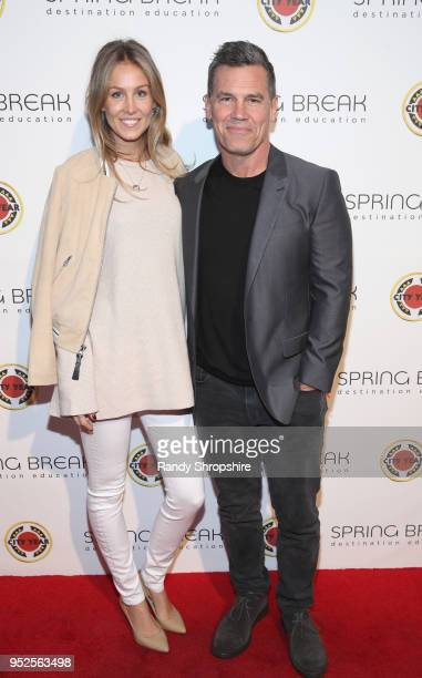 Kathryn Boyd and Josh Brolin attend City Year Los Angeles' Spring Break Destination Education at Sony Studios on April 28 2018 in Los Angeles...
