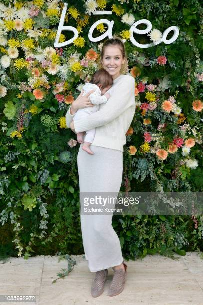Kathryn Boyd Brolin and child attend Baeo Launch Party at Private Residence on January 20 2019 in Pacific Palisades California
