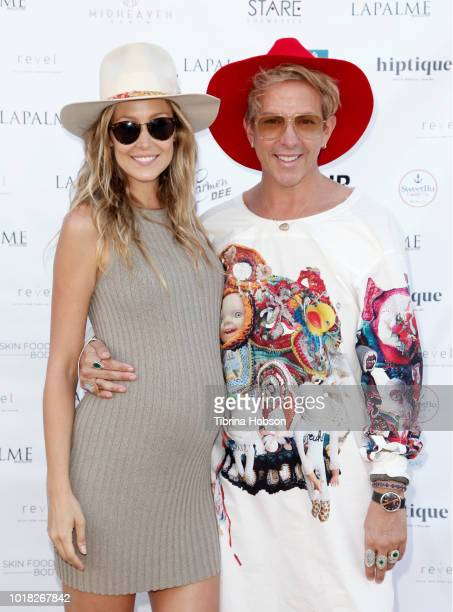 Kathryn Boyd Brolin and Derek Warburton attend LaPalme Magazine and Hiptique's Indian Summer Soiree at Trancas Country Market on August 15 2018 in...