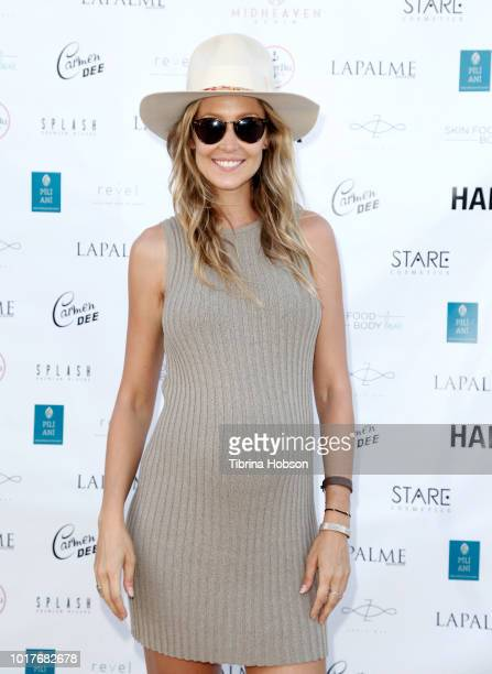 Kathryn Boyd Brolin attends LaPalme Magazine and Hiptique's Indian Summer Soiree at Trancas Country Market on August 15 2018 in Malibu California