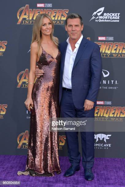 Kathryn Boyd Josh Brolin attend the premiere of Disney and Marvel's 'Avengers Infinity War' on April 23 2018 in Los Angeles California