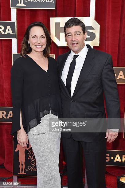 Kathryn Chandler and actor Kyle Chandler attend The 23rd Annual Screen Actors Guild Awards at The Shrine Auditorium on January 29, 2017 in Los...
