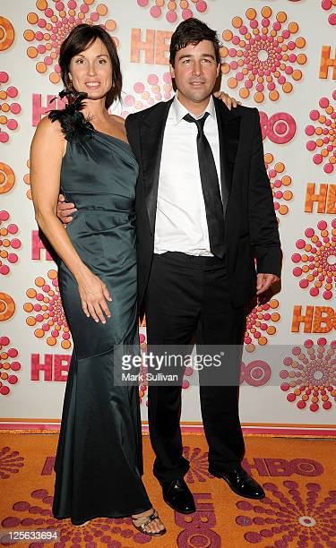 Kathryn Chandler and Kyle Chandler arrive for HBO's 63rd Annual Primetime Emmy Awards after party at Pacific Design Center on September 18 2011 in...
