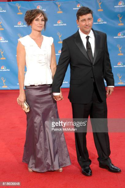 Kathryn Chandler and Kyle Chandler attend 62nd Annual Primetime Emmy Awards Arrivals at Nokia Theatre LA Live on August 29 2010 in Los Angeles CA