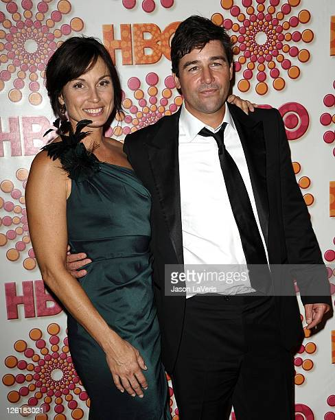 Kathryn Chandler and Kyle Chandler attend HBO's post Emmy party at Pacific Design Center on September 18 2011 in West Hollywood California