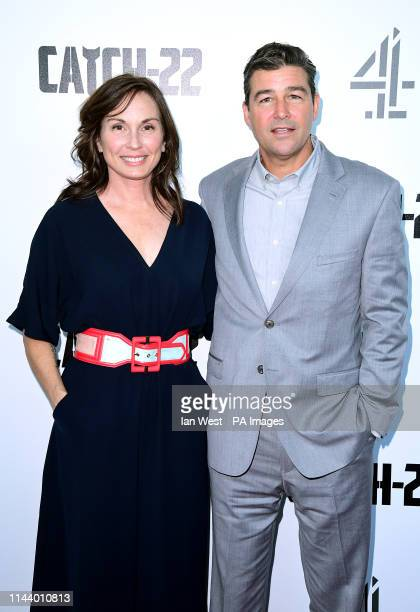 Kathryn Chandler and Kyle Chandler attending the Catch22 UK Premiere held at VUE Cinema Westfield London
