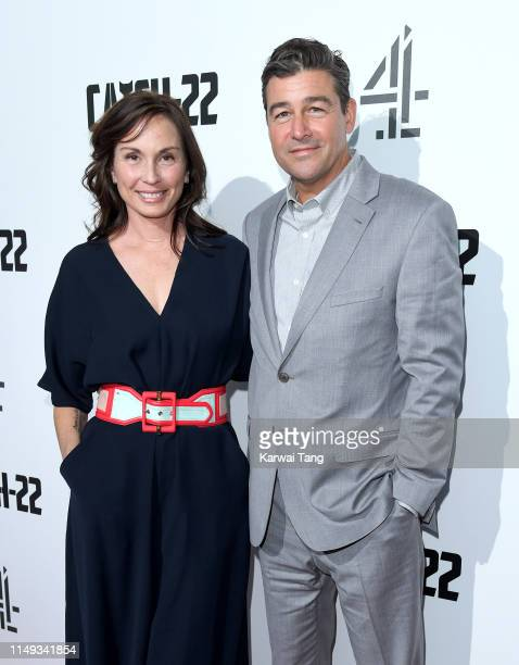 "Kathryn Chandler and Kyle Chandler attends the ""Catch 22"" UK premiere at the Vue Westfield on May 15, 2019 in London, United Kingdom."