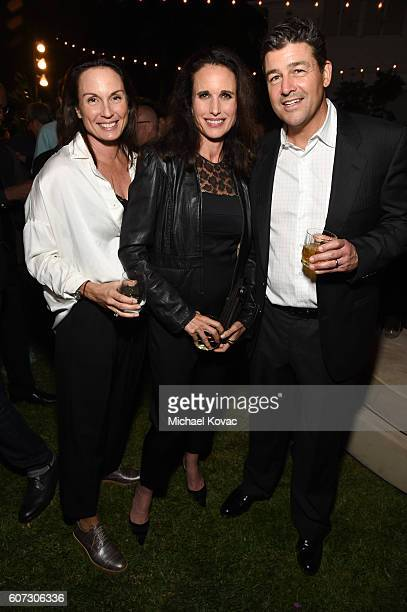 Kathryn Chandler, Andie MacDowell and Kyle Chandler attend the Gersh Emmy Party presented by World Class Spirits at a private residence on September...