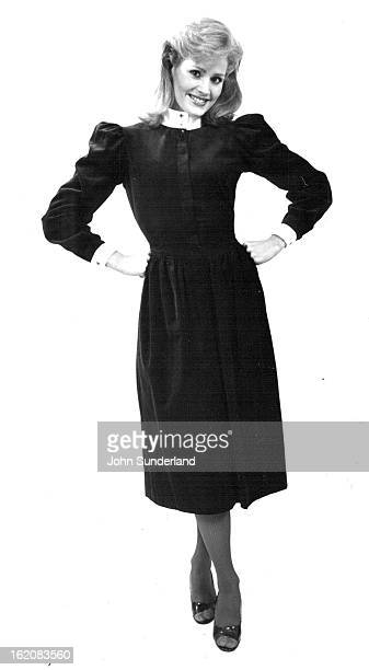 AUG 25 1982 AUG 28 1982 SEP 5 1982 Kathryn Conover's black corduroy dress with white collar and cuffs from Joseph Magnin's is suitable to any dress...