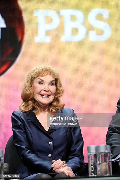 Kathryn Crosby speaks onstage during the AMERICAN MASTERS Bing Crosby Rediscovered panel during the PBS Networks portion of the 2014 Summer...