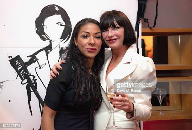 Kathryn Drysdale and Collette Cooper attend the launch of Collette Cooper's new single 'Perfect Girl' and the 'Collette' suit collaboration with...