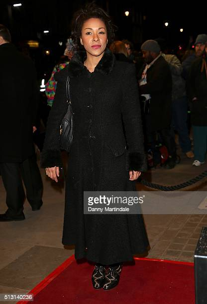Kathryn Drysdale arrives for Gala performance of 'The Maids' at Trafalgar Studios on February 29 2016 in London England