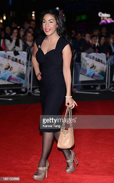 Kathryn Drysdale attends the European premiere of 'One Chance' at the Odeon Leicester Square on October 17 2013 in London England