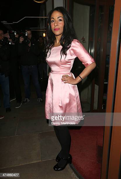 Kathryn Drysdale attends the launch of Total Minx a new brand of ethically produced mink eyelashes at The Sanctum Hotel on February 25 2014 in London...