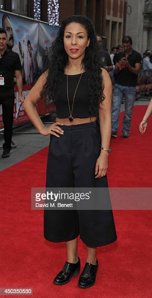 Kathryn Drysdale attends the UK Premiere of 'The Hooligan Factory' at Odeon West End on June 9 2014 in London England