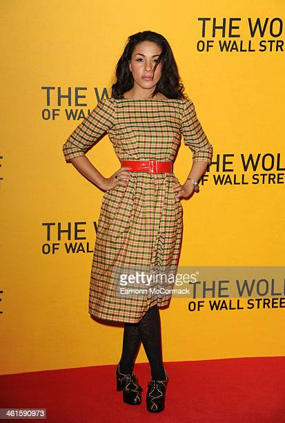 Kathryn Drysdale attends the UK Premiere of 'The Wolf Of Wall Street' at Odeon Leicester Square on January 9 2014 in London England