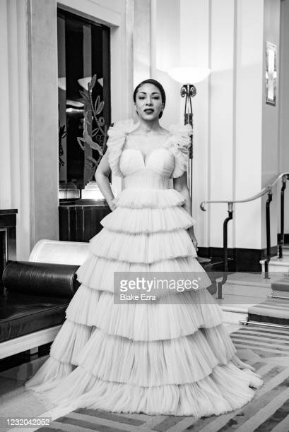 Kathryn Drysdale is seen in her award show look for the 27th Annual Screen Actors Guild Awards on March 31, 2021 in London, England. Due to COVID-19...