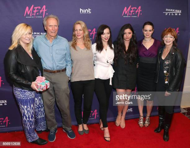 Kathryn Eastwood Clint Eastwood Alison Eastwood Francesca Eastwood Morgan Eastwood and Francis Fisher attend the Premiere Of Dark Sky Films' MFA at...