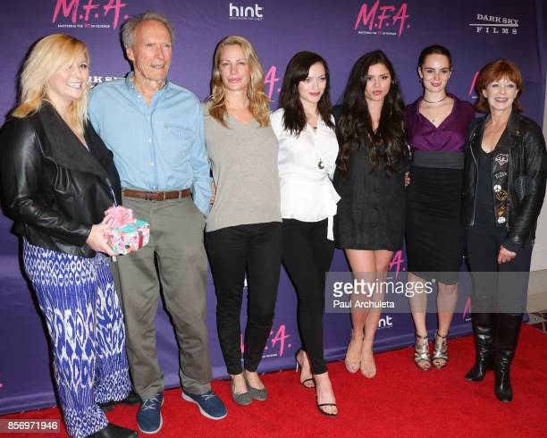 Kathryn Eastwood Clint Eastwood Alison Eastwood Francesca Eastwood Morgan Eastwood Graylen Eastwood and Francis Fisher attend the premiere of Dark...