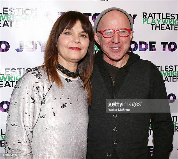 Kathryn Erbe and Arliss Howard attend the opening night of 'Ode To Joy' at Cherry Lane Theatre on February 27 2014 in New York City