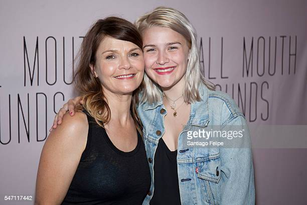 Kathryn Erbe and Maeve Elsbeth Erbe Kinney attend 'Small Mouth Sounds' opening night at The Pershing Square Signature Center on July 13 2016 in New...
