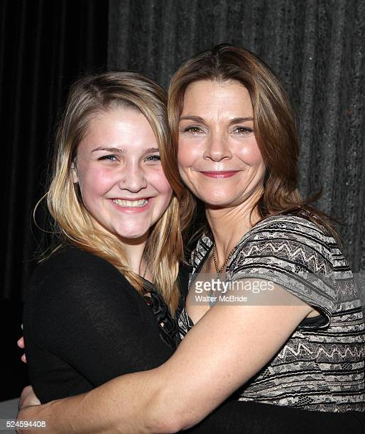 Kathryn Erbe daughter Maeve Elsbeth Erbe Kinney attending the Opening Celebration for 'Checkers' at the Vineyard Theatre in New York City on