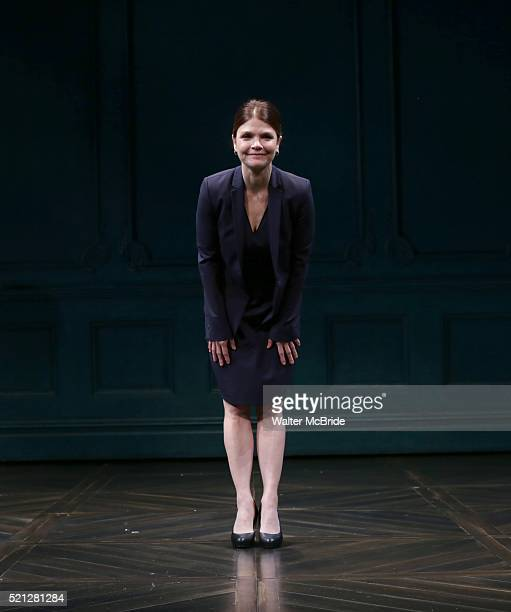 Kathryn Erbe during the Opening Night Curtain Call bows for 'The Father' at The Samuel J Friedman Theatre on April 14 2016 in New York City