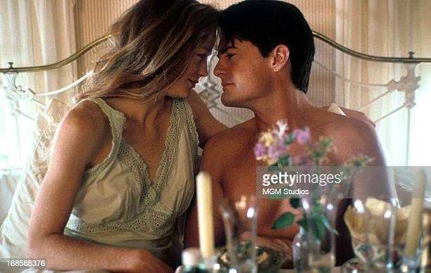 Kathryn Erbe embraces Kyle MacLachlan in a scene from the film 'Rich In Love' 1992