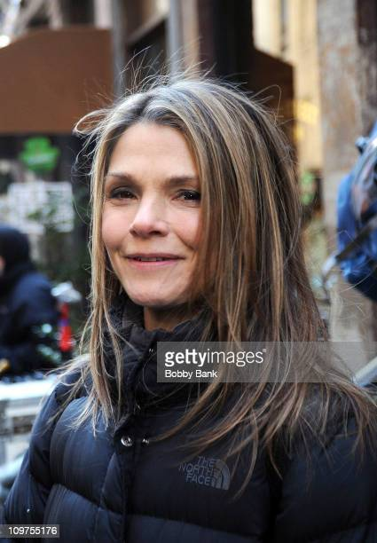 Kathryn Erbe filming on location for 'Law Order Criminal Intent' on the streets of Manhattan on March 3 2011 in New York City
