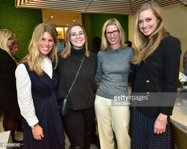 Kathryn Given Elizabeth Hubesch Alexis Contant and Madeline O'Malley attend JANUS et Cie Spring 2018 Press Preview Event at 221 East 59th Street New...