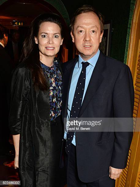 Kathryn Greig and Geordie Greig attend a dinner at Annabel's to celebrate the premiere of Mapplethorpe Look At The Pictures on April 19 2016 in...