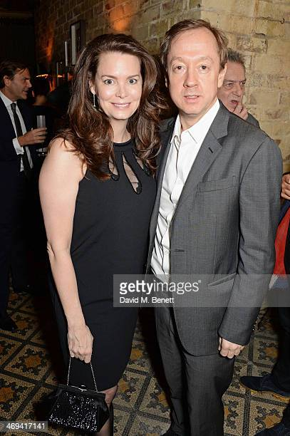 Kathryn Greig and Geordie Greig attend Harvey Weinstein's preBAFTA dinner in partnership with Burberry and Grey Goose at Little House Mayfair on...