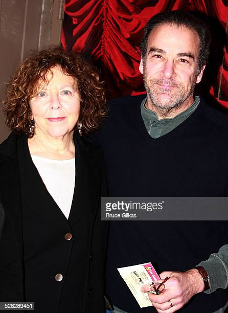 Kathryn Grody and husband Mandy Patinkin poses at The Opening Night Arrivals for The Broadway Revival of Gypsy at The S James Theater on March 27...