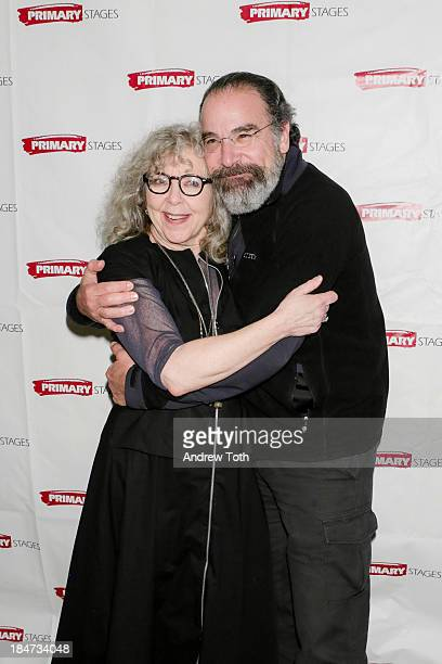 Kathryn Grody and Mandy Patinkin attend the opening night after party for The Model Apartment at Sarabeth's on October 15 2013 in New York City