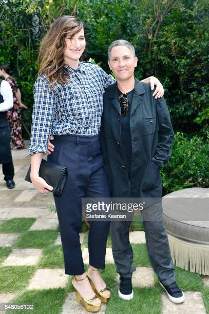 Kathryn Hahn and Jill Soloway attend the Audi and Amazon Studios Transparent Nominees Brunch in the garden of The Chateau Marmont on September 16...