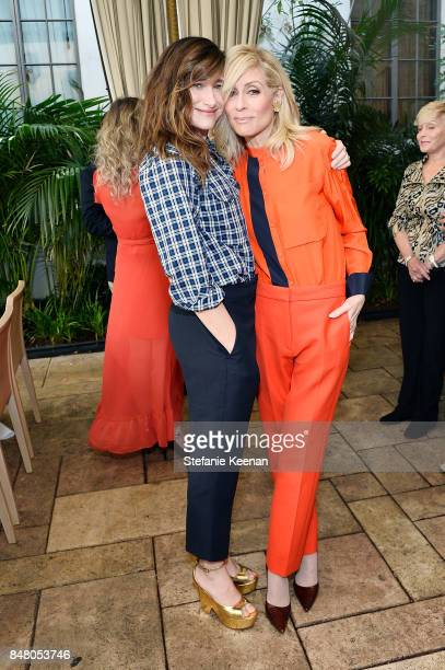 Kathryn Hahn and Judith Light attend the Audi and Amazon Studios Transparent Nominees Brunch in the garden of The Chateau Marmont on September 16...