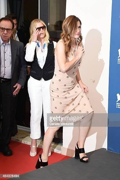 Kathryn Hahn and Louise Stratten attend the 'She's Funny That Way' Photocall during the 71st Venice Film Festival on August 29 2014 in Venice Italy
