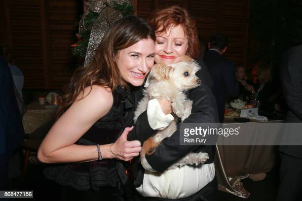 Kathryn Hahn and Susan Sarandon attend the after party for the premiere of STX Entertainment's A Bad Moms Christmas on October 30 2017 in Los Angeles...