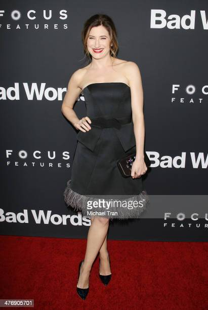 Kathryn Hahn arrives at the Los Angeles premiere of 'Bad Words' held at ArcLight Cinemas Cinerama Dome on March 5 2014 in Hollywood California