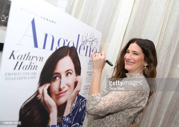 Kathryn Hahn attends Angeleno celebrates its November issue with Kathryn Hahn on November 12 2018 in West Hollywood California