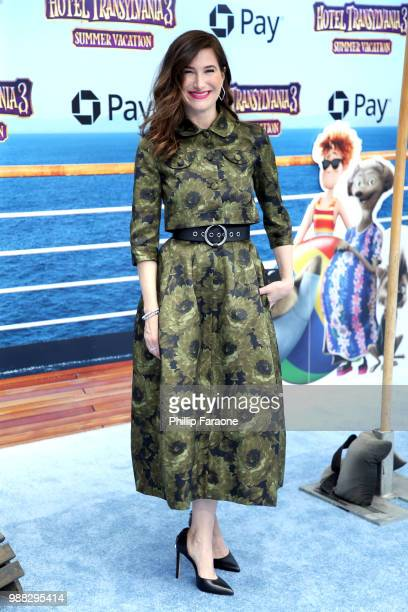 Kathryn Hahn attends the Columbia Pictures and Sony Pictures Animation's world premiere of 'Hotel Transylvania 3 Summer Vacation' at Regency Village...