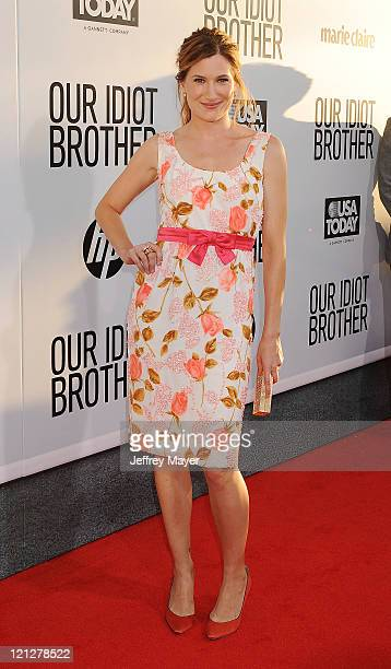 Kathryn Hahn attends the Los Angeles premiere of Our Idiot Brother at ArcLight Hollywood on August 16 2011 in Hollywood California